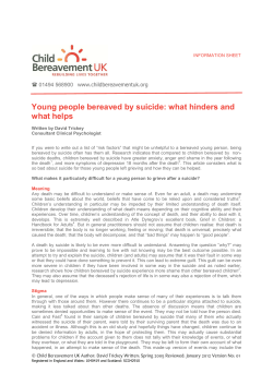 Young people bereaved by suicide: what hinders and what helps