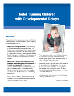 Toilet Training Children with Developmental Delays Introduction