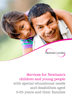 Services for Newham's children and young people with special educational needs