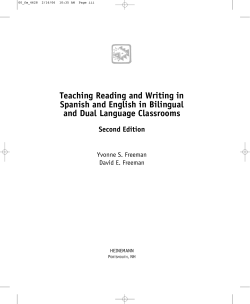 Teaching Reading and Writing in Spanish and English in Bilingual Second Edition