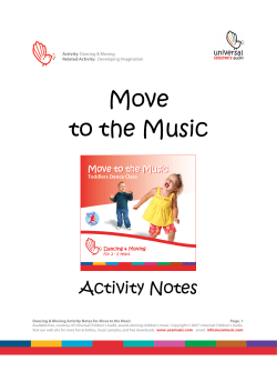 Move to the Music  Activity Notes