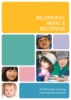 BELONGING, BEING & BECOMING The Early Years Learning
