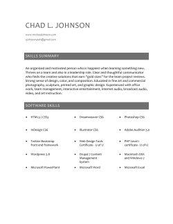 CHAD L. JOHNSON SKILLS SUMMARY