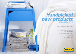 Handpicked new products FEBRUARY 2013
