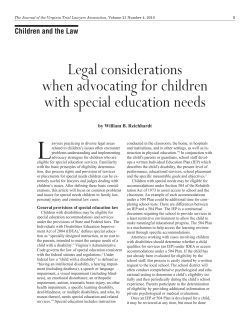 L Legal considerations Children and the Law
