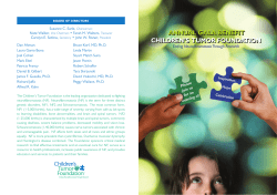 ANNUAL GALA BENEFIT CHILDREN'S TUMOR FOUNDATION Ending Neurofi bromatosis Through Research