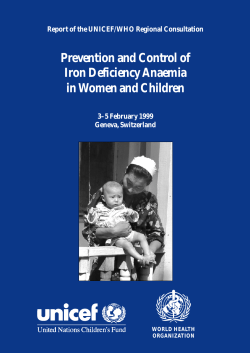 Prevention and Control of Iron Deficiency Anaemia in Women and Children