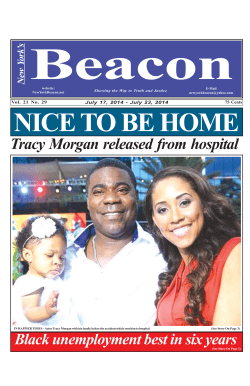 Beacon NICE TO BE HOME Tracy Morgan released from hospital