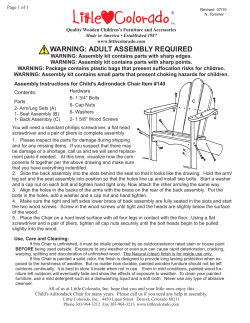 WARNING: ADULT ASSEMBLY REQUIRED