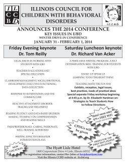 ILLINOIS COUNCIL FOR CHILDREN WITH BEHAVIORAL DISORDERS