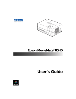 User's Guide Epson MovieMate 85HD ®
