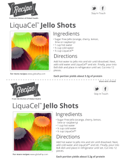 LiquaCel Jello Shots Ingredients