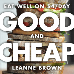 GOOD CHEAP EAT WELL ON $4/DAY AND