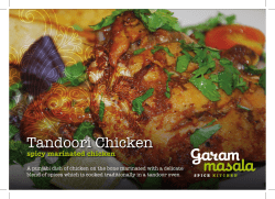 Tandoori Chicken spicy marinated chicken