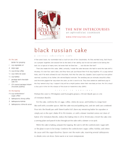 black  russian  cake The New InterCourses