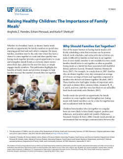Raising Healthy Children: The Importance of Family Meals