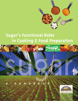 Sugar's Functional Roles in Cooking & Food Preparation