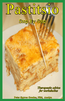 Pastitsio Step By Step  Therapeutic advice