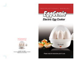 Electric Egg Cooker ™ Take the guesswork out