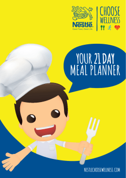 YOUR 21 DAY MEAL PLANNER NESTLECHOOSEWELLNESS.COM