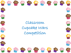 Classroom Cupcake Wars Competition