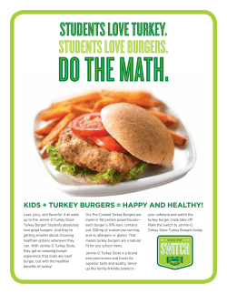 DO THE MATH. STUDENTS LOVE TURKEY. STUDENTS LOVE BURGERS.