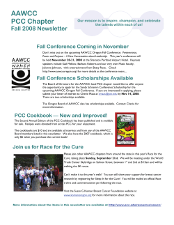 AAWCC PCC Chapter Fall 2008 Newsletter