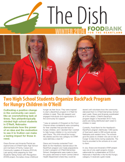 The Dish winter 2014 Two High School Students Organize BackPack Program