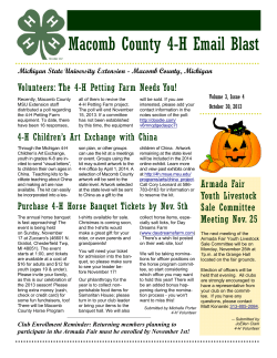 Macomb County 4-H Email Blast