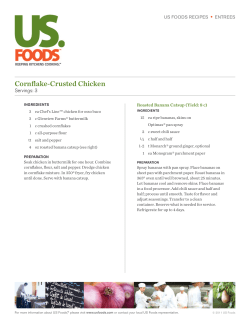 Cornflake-Crusted Chicken • Servings: 3 US FOODS RECIPES