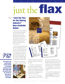 "flax just the ""Just the Flax for the Baking"