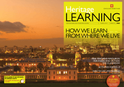 HOW WE LEARN FROM WHERE WE LIVE