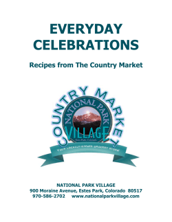 EVERYDAY CELEBRATIONS  Recipes from The Country Market