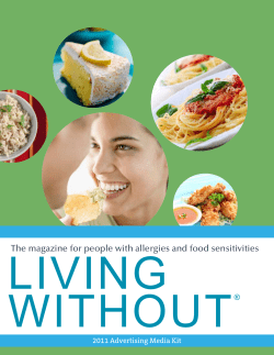 LIVING WITHOUT The magazine for people with allergies and food sensitivities