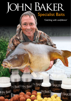 Specialist Baits 'Catching with confidence'