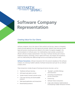 Software Company Representation Creating Value For Our Clients