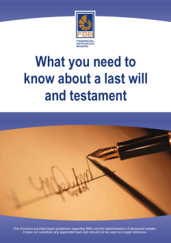 What you need to know about a last will and testament