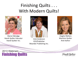 Finishing Quilts . . . With Modern Quilts!