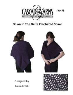 Down In The Delta Crocheted Shawl W476 Designed by Laura Krzak