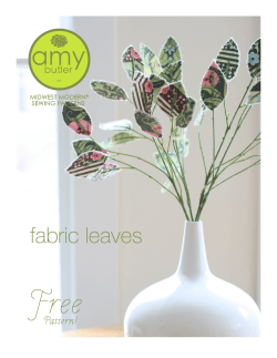 Free fabric leaves Pattern! MIDWEST MODERN