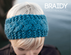 BRAiDY CABLE HEADBAND