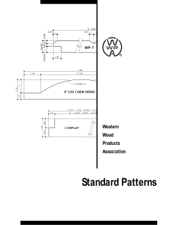 Standard Patterns Western Wood Products