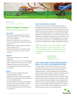 NUANCE william briggs & company