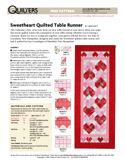 Sweetheart Quilted Table Runner FREE PATTERN