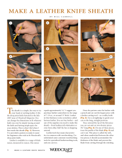 T make a leather knife sheath