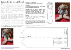 Ascot SEWING GUIDELINES SIZING