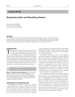 Respiratory Rate and Breathing Pattern CLINICAL REVIEW