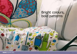 Bright colours, bold patterns news 1