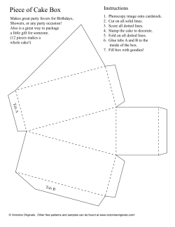 Piece of Cake Box Instructions