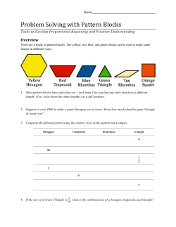 Problem Solving with Pattern Blocks Overview